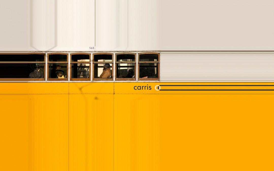 Tranvía en amarillo